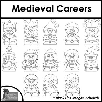 Medieval Careers Clip Art