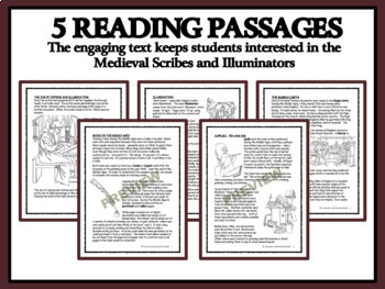 MEDIEVAL SCRIBES & THE MAGNA CARTA - Reading Passages and Classroom Activities