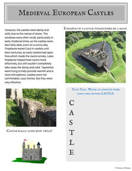 Medieval Castles: Printable Packet {no prep}