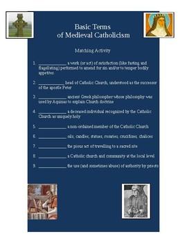 Medieval Catholicism Activity