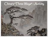 "China's ""3 Ways""  Match Activity / Assessment"