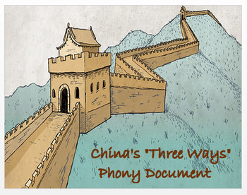"""Medieval China - China's Golden Age -  """"The 3 Ways""""  Phony Document"""