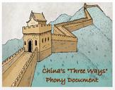 "Medieval China's ""Three Ways"" - Phony Document"