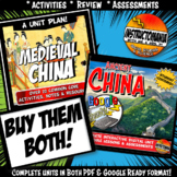 Medieval China Complete Unit & Google Ready Combined Activity History Bundle