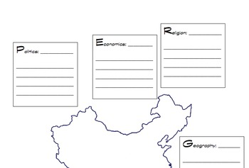Medieval China Graphic Organizer