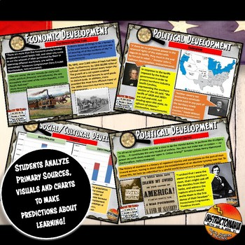 North & South Pre-Civil War Investigation History Lesson Stations & Presentation