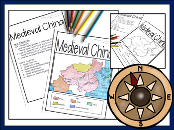 Medieval china map lesson assessment digital and pdf versions gumiabroncs Image collections