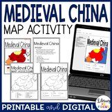 Medieval China Map Lesson & Assessment (Digital and PDF Versions)