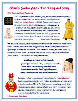 """Medieval China - """"The Tang and Song"""" + Assessment"""