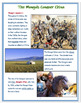 """The Mongols Conquer China"" + Quiz"