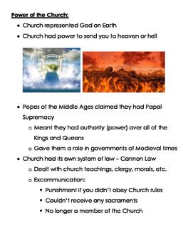 Medieval Church Notes