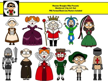 Medieval Clip Art Characters