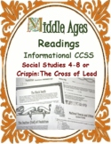 Medieval Close Reading Passages, Questions, Vocabulary CCSS 4-8