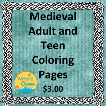 Medieval Adult Teen Coloring Pages, Visual Art, Fun Stuff, Sub Plan