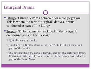 Medieval Drama: History, Role of Church,Types of Plays, Stage, and Actors