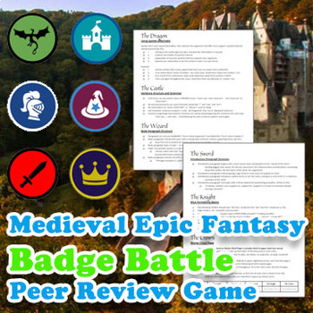 Medieval Epic Fantasy Badge Battle Peer Review Game: Any Level, Any Content