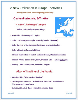 """Medieval Europe - """"A New Civilization in Europe"""" - Activities / Assessment"""