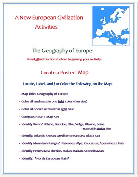 "Medieval Europe - ""A New Civilization in Europe"" - Activities / Assessment"