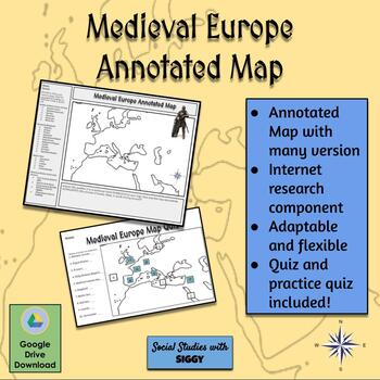 Medieval Europe Annotated Map Activity
