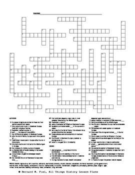 Medieval Europe Crossword Puzzle