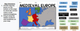 Medieval Europe Drag and Drop Map