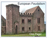 """European Feudalism"" - ONE-PAGER   Activity / Assessment"