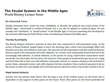 Medieval Europe: Franks, Feudalism, & Chivalry (Middle Ages PowerPoint)