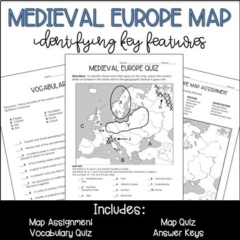 Medieval Europe Geography Map
