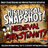 Medieval Europe Historical Snapshot Close Reading Investigation