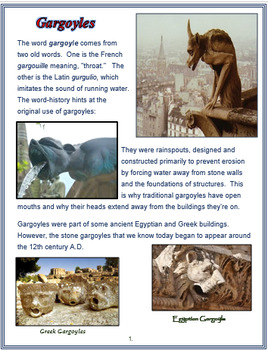 "Medieval Europe - ""Gargoyles"" + Assessments"