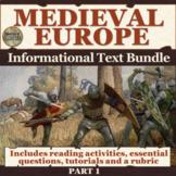 Medieval Europe Informational Text Bundle Part 1