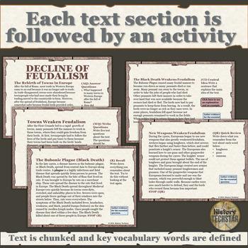 Medieval Europe Informational Text Bundle Part 2