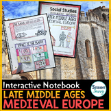 Medieval Europe - Late Middle Ages Interactive Notebook | Distance Learning
