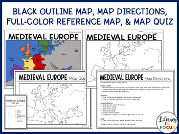 Medieval Europe Map Lesson and Assessment (Digital and PDF)