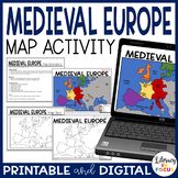 Medieval Europe Map Activity and Quiz   Google Version Included