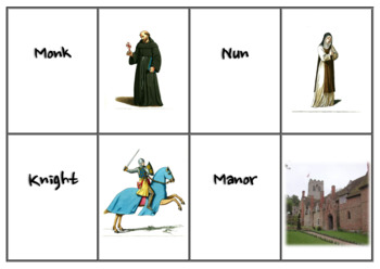 Medieval Europe - Matching Vocabulary to Pictures