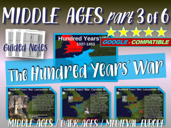 Medieval Europe (PART 3: HUNDRED YEARS' WAR) engaging 88-slide Middle Ages PPT