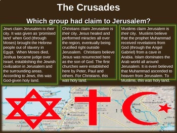 Medieval Europe (PART 6: THE CRUSADES) engaging 88-slide Middle Ages PPT