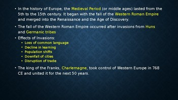 Medieval Europe Power Point