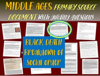 Medieval Europe Primary Source: 1348 Black Death text: BREAKDOWN OF SOCIAL ORDER