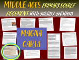 Medieval Europe Primary Source: Magna Carta vs. Bill of Rights with questions
