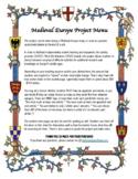 Medieval Europe Project Menu