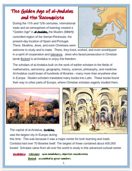 """Medieval Europe - Spain  """"Al-Andulus and the Reconquista"""" + TDQ Assessment"""