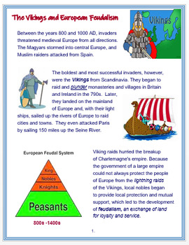 The Vikings and European Feudalism + Assessment