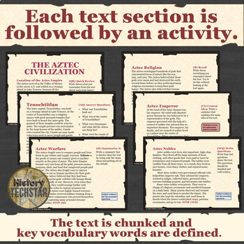 Mayas, Aztecs, &  Incas Unit Informational Text Bundle