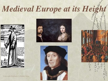 Medieval Europe at its Height Power Point
