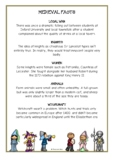 Medieval Fact Cards