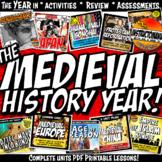 Medieval History Curriculum Year Activity Mega Bundle Common Core Grades 5-8