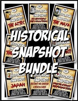 Medieval History Historical Snapshot Close Reading Investigation BUNDLE