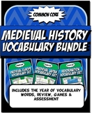 Medieval History Vocabulary Bundle